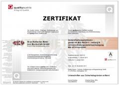 Zertifikat Instandhaltungssystems